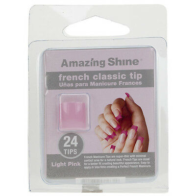 Amazing Shine 24 French Manucure Classique Ongles Artificiels - Rose Clair (262)
