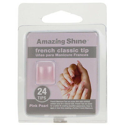 Amazing Shine 24 French Manucure Classique Ongles Artificiels - Perle Rose (266)