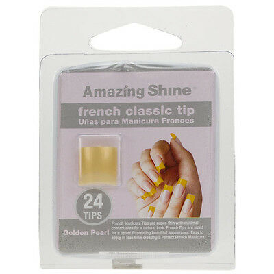 Amazing Shine 24 French Manucure Classique Ongles Artificiels Golden Pearl 268