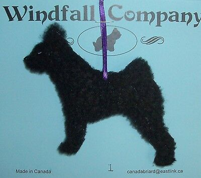 Black Hungarian Pumi Dog Plush Christmas Canine Ornament #1 by WC