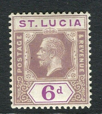 ST.LUCIA;   1920s early GV Mult. Script issue Mint hinged 6d. value
