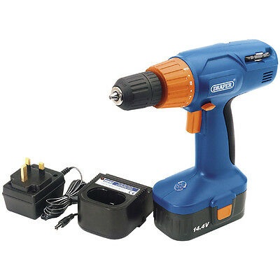 Draper 14.4V Cordless Rotary Drill Driver 71385 with Ni-CD Battery Limited Offer