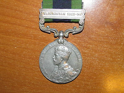 British Medal India General Service Waziristan 1921-24 nice Low Number Neat Rank