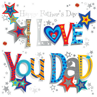 I Love You Dad Father's Day Greeting Card Handmade By Talking Pictures