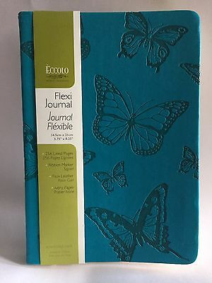 "ECCOLO World Traveler Flexi Journal 5.75""x 8.25"" with 256 Lined Pages NWT"