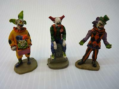 Lemax Halloween Spooky Town, Sinister Clowns Set Of 3 (pt1575)