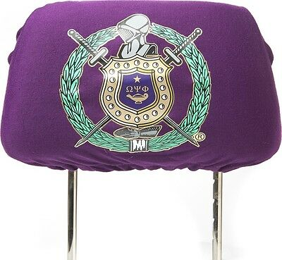 Omega Psi Phi Car Seat Headrest Cover [Purple]