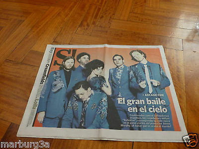 Arcade Fire  in Super Rare Newspaper Section ofArgentina