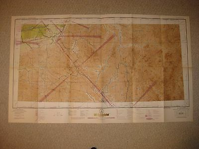 Huge Rare Antique 1944 La Grande Oregon Aeronautical Chart Map Ww2 Air Defense