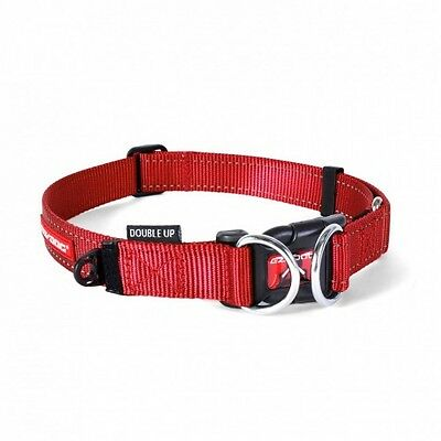 EZYDOG - Double Up Dog Collar Red Medium 29-40cm - Free Delivery