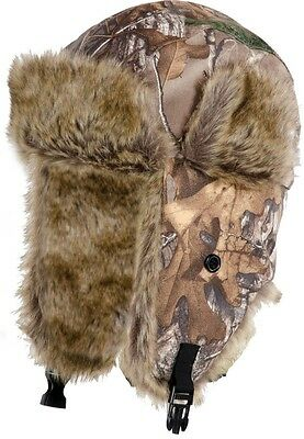 FXR Aviator Fur Lined Hat  RealTree Xtra Woods Camo LG/XL