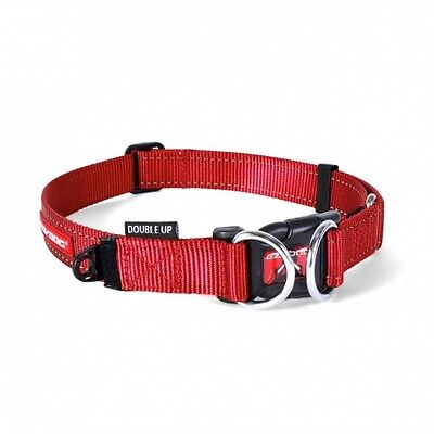 EZYDOG - Double Up Dog Collar Red Large 39-59cm - Free Delivery