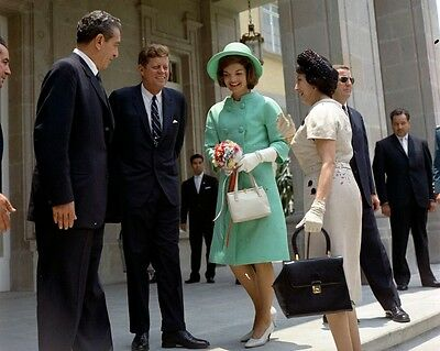 President John F. Kennedy and Jackie with Mexico President Mateos New 8x10 Photo