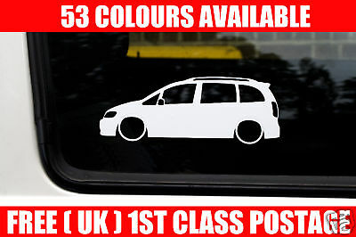 2x LOW Vauxhall Zafira A,VXR /OPC/ GSi outline stickers