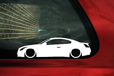 2x LOW Infiniti G37 Coupe / JDM cv36 nissan skyline 370GT coupe outline stickers