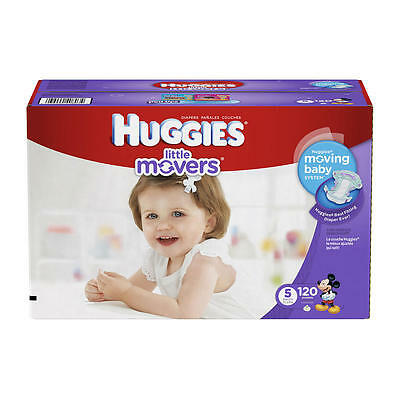 Huggies Little Movers Size 5 Baby Disposable Diapers - 120 Count