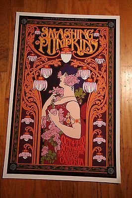 The Smashing Pumpkins 2012 Show Poster by 60s Rock Art Icon Bob Masse signed.