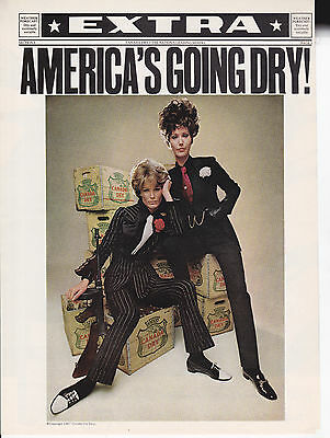 Original Print Ad-1967 CANADA DRY-Gangster Strips Tommy Gun AMERICA'S GOING DRY!