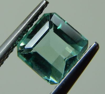1.28CT RARE ULTRA CLEAN NATURAL COLOMBIAN EMERALD AS IS! 6.34x6.15x4.54m/1496/FR