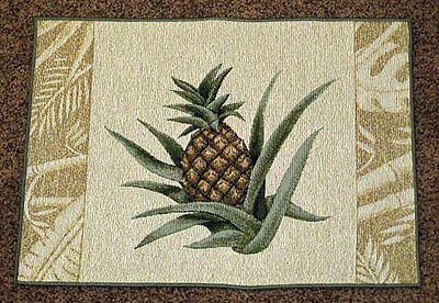 Island Breeze Tropical Pineapple Tapestry Placemat