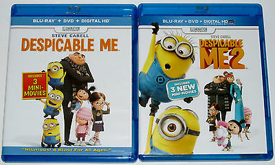 Kid Blu-ray DVD Lot - Despicable Me & Despicable Me 2 (Used)