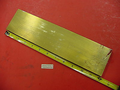 "1/2"" x 3"" C360 BRASS FLAT BAR 12"" long Solid Plate Mill Stock H02 .50""x 3.0""x 12"