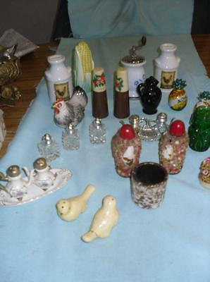 8 Unique Vintage Salt Pepper Sets + 4 Singles And 2 Toothpick Holders YGWYC