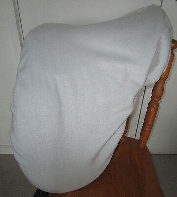 Horse Saddle cover in Silver/pale grey FREE EMBROIDERY Made in Australia
