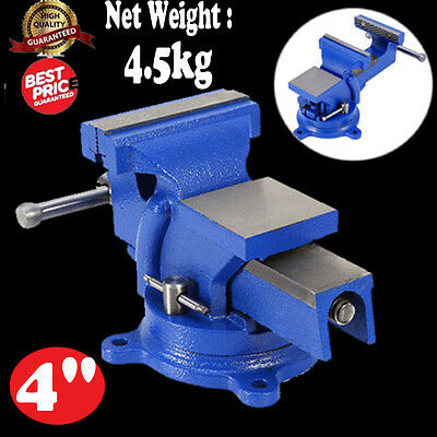 "4"" 100Mm Work Bench Vice Vise Workshop Clamp Engineer Jaw Swivel Base Table Hot"