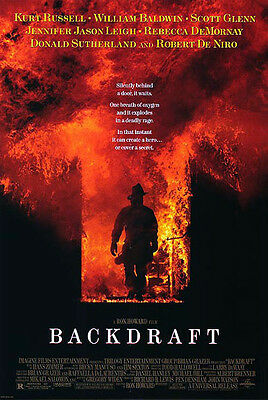 Backdraft (1991) original movie poster reproduction single-sided rolled