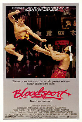 Bloodsport (1987) original movie poster single-sided rolled