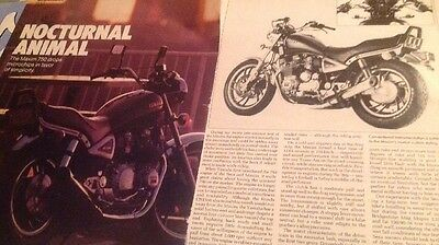 5 Pages Vintage Motorcycle Road Test  1983 Yamaha XJ750 Maxim