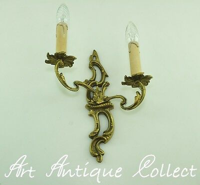 Antik Wandlampe Messing French Rococo Antique Brass Wall Light Wandleuchte Led
