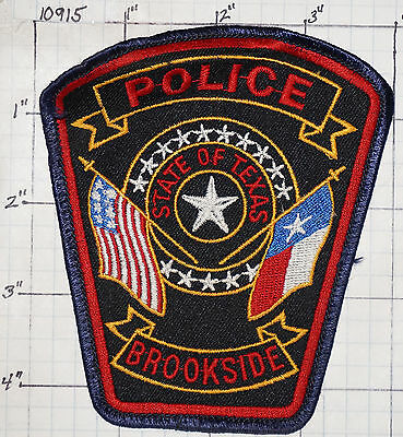Texas, Brookside Police Dept Patch