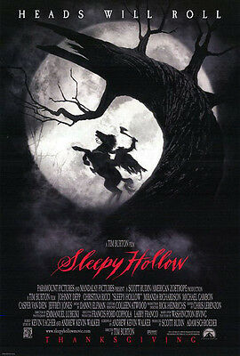 Sleepy Hollow (1999) original movie poster version A double-sided rolled
