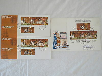 1-3 Price Each Captain Cook Bicentenary 1970  Stamp Day Cover Fdc Australia
