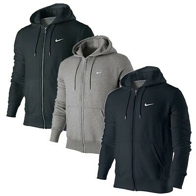 NIKE Herren Brushed Fleece SQUAD Full Zip Hoody Kapuze Hoodie Sweatjacke NEU