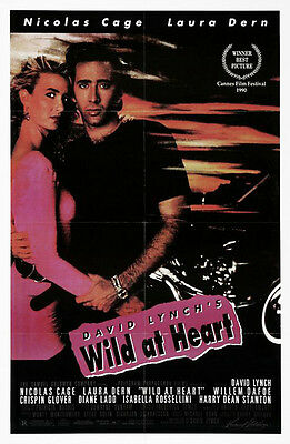 Wild at Heart (1990) original movie poster single-sided folded