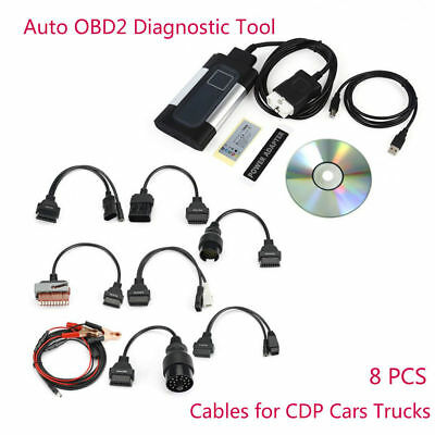 2017 TCS CDP Pro Plus for autocom Car Auto OBD2 Diagnostic Tool Kit +8PCS Cables