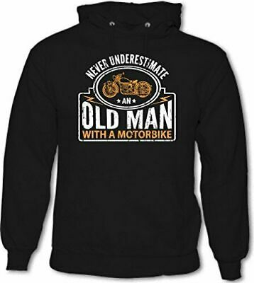 Never Underestimate An Old Man With A Motorbike - Mens Funny Biker Hoodie