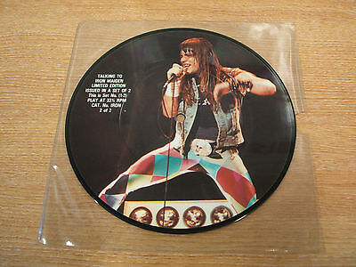 "talking to iron maiden part 2 1985 uk issue vinyl 7"" picture disc single"