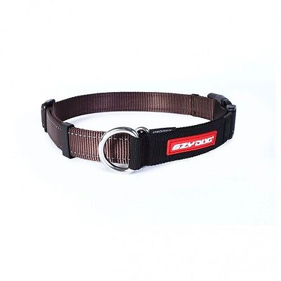EZYDOG - Check Mate Dog Collar Chocolate Brown Small 26-34cm - Free Delivery