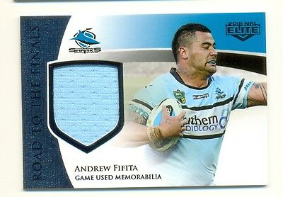 2016 NRL Elite Road to Finals Game Worn patch card Andrew Fifita-Sharks 120/150