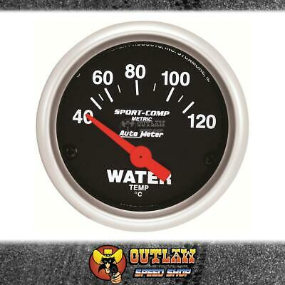 "Autometer Gauge Sport-Comp  Water Temp 40-120° C. 2.1/16"" Electric - Au3337-M"