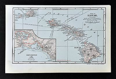 1903 Mathews Northup Map - Hawaii Oahu Maui Kauai Lanai Molokai Niihau Honolulu