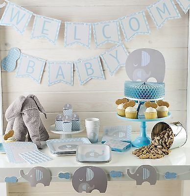 Little Peanut New BOY BABY SHOWER Party Range (Tableware & Decorations) Elephant