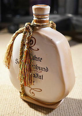Old German Decanter ALB HANS Malt Liquor Bottle Flask Antique Amazing 1955