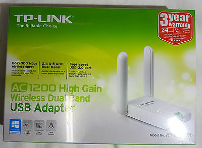 Tp-Link Ac1200 High Gain Wireless Dual Band Usb Adapter - Archer T4Uh - New