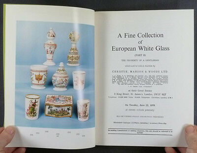 German Bohemian Antique White Opaque Glass- Private Collection Catalog Part 2