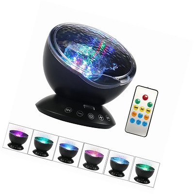Umiwe Remote Control Ocean Wave Projector Night Light Lamp with Built-in Music P